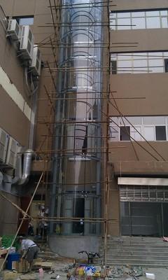 旧楼加装钢结构观光电梯